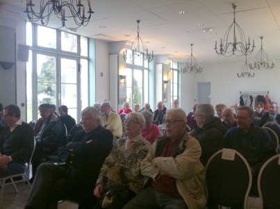 La salle François Mitterrand est attentive